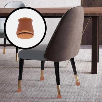 4 sztuk krzesło domowe nogi czapki gumowe nóżki podkładki ochronne meble-stół obejmuje skarpetki zatyczki do otworów osłona przeciwpyłowa meble poziomowanie stóp tanie i dobre opinie CN (pochodzenie)