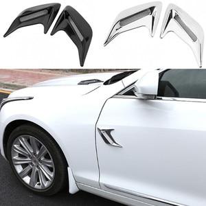 Image 2 - 2 stücke Auto Seite Vent Simulation Hai Kiemen Aufkleber Dekorative Für Hyundai IX35 IX45 Sonata Verna Solaris Elantra Tucson Mistra