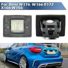 LED License Plate Lamp For Mecedes Benz W176 2012-UP,for W166 2011-UP,R172 2011-UP,For X166 2012-UP,for W156 2014-UP up