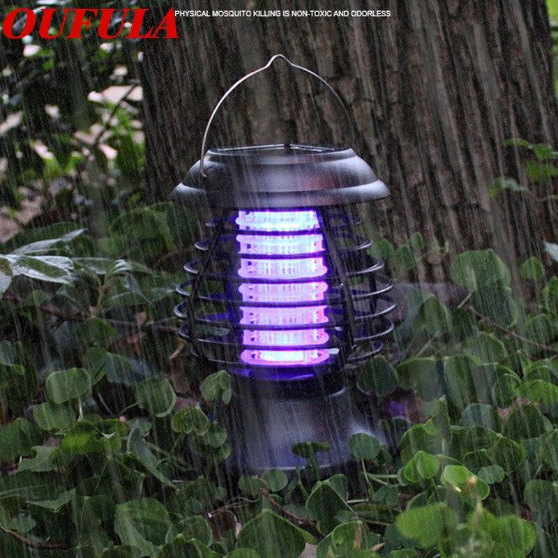 OUFULA Solar Mosquito Killer Lamp Garden Electric Mosquito Outdoor Mosquito Trap Outdoor Waterproof Mosquito Repellent Lamp
