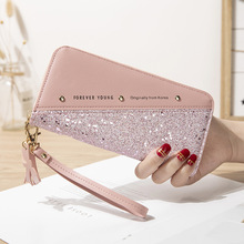 Women Wallets Card-Holder Ladies Purse Cellphone-Bag Zipper Long-Design Fashion Crystal