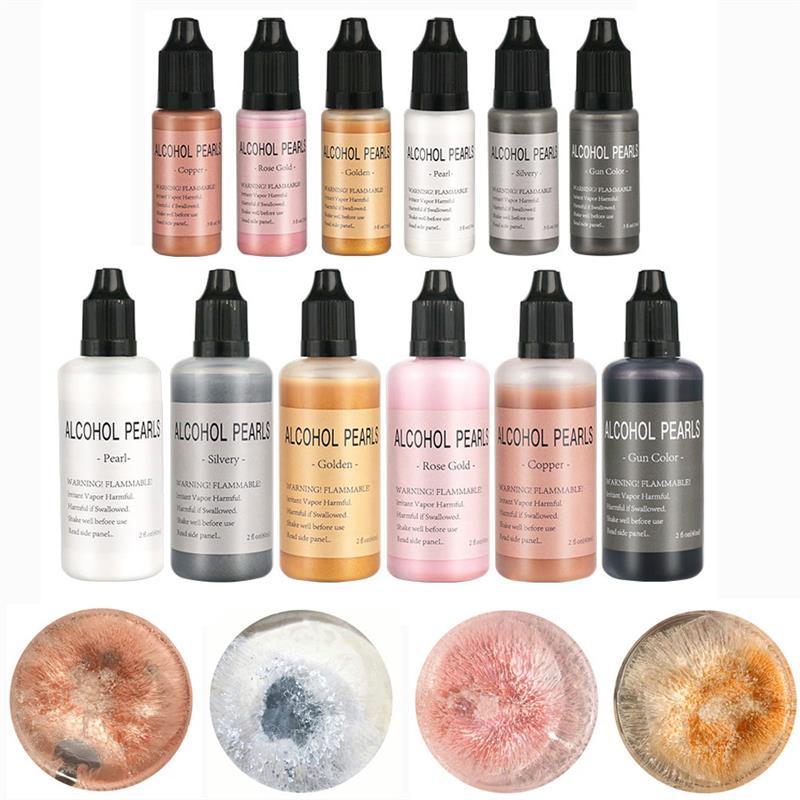 15ml/60ml Metallic Art Ink Alcohol Resin Pigment Diffusion Liquid For DIY UV Epoxy Resin Jewelry Making Resin Crafts