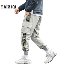 Cargo Pants Men fashion trend clothing pencil pants tactical brand high quality Camouflage men\x27s cropped trousers DS534