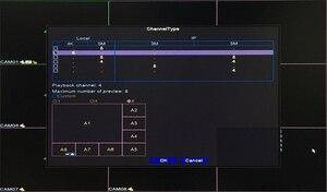 Image 5 - Uzaktan kumanda ses yüz algılama Hi3531D 8MP 4K Xmeye 8CH 8 kanal H.265 + hibrid koaksiyel WIFI 6 1 TVI CVI NVR AHD DVR
