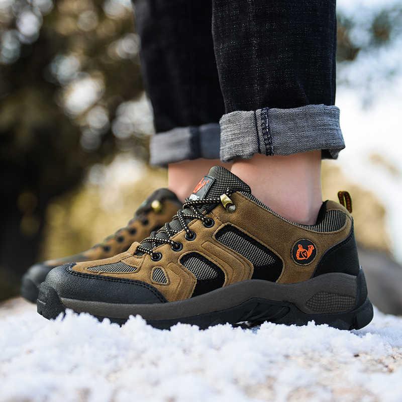 2019 Herfst Winter Sneakers Outdoor Casual Mannen Schoenen Comfortabele Mesh Ademende Schoenen Mannelijke Licht Rubber Schoeisel Big Size 36- 48