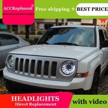 Cho Xe Jeep Liberty 2013 2015 Đèn Pha Tất Cả Các Đèn Pha LED DRL Năng Động Tín Hiệu Giấu Đầu Đèn Bi Xenon Tia Phụ Kiện kiểu Dáng Xe