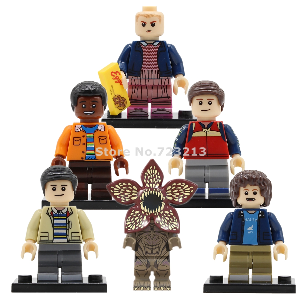 5pcs/lot TV Stranger Things Figure Set Lucas Eleven Will Mike Dustin Model Building Blocks Kits Brick Toys For Children Legoing