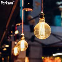 Bombilla de luz de Edison Retro regulable E27, 220V, G80, G95, G125, Bombilla incandescente de filamento Vintage, iluminación de ampolla