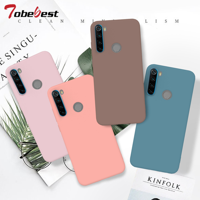 Candy Solid Color Soft Silicone Case For Xiaomi Redmi Note 8T 8 7 7A 6 6A 5 Pro Soft TPU Matte Phone Cover For Redmi Note 9 9S 1