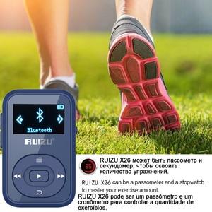 Image 3 - Ruizu LCD ספורט אודיו מיני Bluetooth Mp3 נגן מוסיקה אודיו Mp 3 Mp 3 עם רדיו דיגיטלי Hifi Hi Fi מסך Fm flac Usb 8GB קליפ