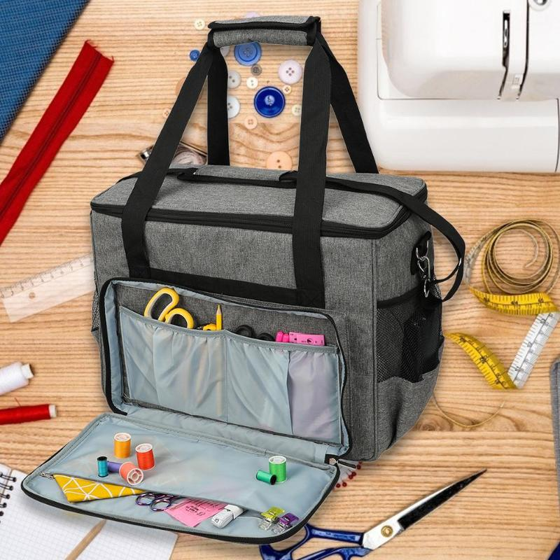 Oxford Cloth Sewing Machine Storage Bag Large Capacity Sewing Tools Handbag Oxford Cloth Home Use Assorted Tote Multi-functional