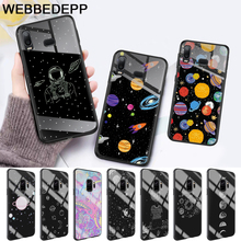 Cartoon Moon Stars Planet Glass Case for Samsung S7 Edge S8 S9 S10 Plus A10 A20 A30 A40 A50 A60 A70 Note 8 9 10 стоимость