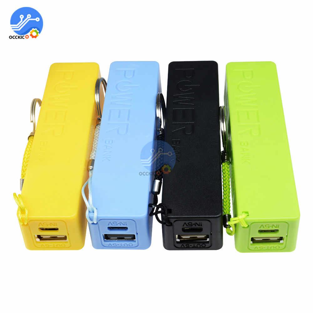 סוללה אחסון תיבת 18650 כוח בנק מקרה תיבת בעל מוביל עם 1 חריצים עבור מתכת גלאי USB כוח soporte celular ארגונית