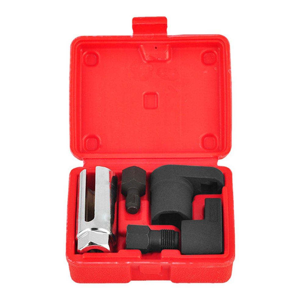 5pcs Oxygen Sensor Socket Wrench Thread Chaser Tool Kit Fit for All Auto O2 Socket Removal Installat