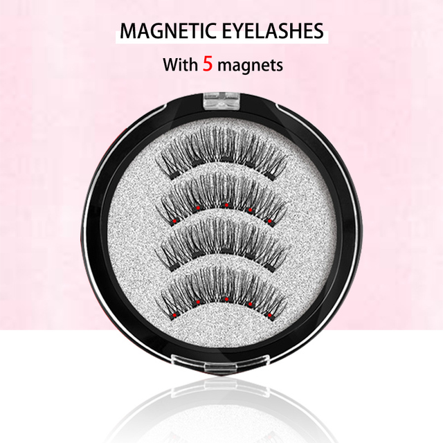 MB Magnetic Eyelashes With 5 Magnets 3D False Lashes Natural For Mink Eyelashes Extension Long Reusable faux cils magnetique 22P 1