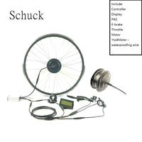 Schuck 36V250W electric bicycle Power bike waterproof modification kit with LCD3 Display front hub motor ebike wheel|Conversion Kit|   -
