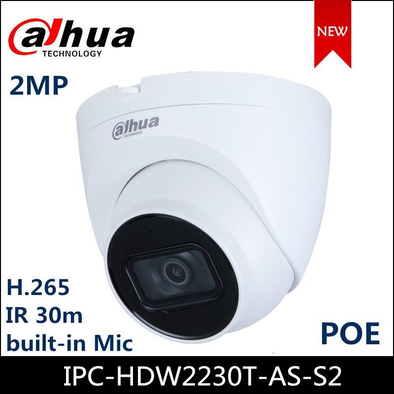 Dahua IP Camera IPC-HDW2230T-AS-S2 2MP IR Eyeball Network Camera Support POE Upgraded Version Of IPC-HDW1230S-S2