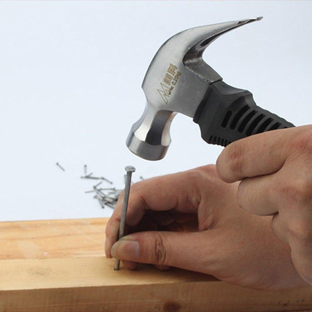 Магнитный молоток с круглой пластиковой ручкой для деревообработки и электронного инструмента, мини молоток резиновый молоток