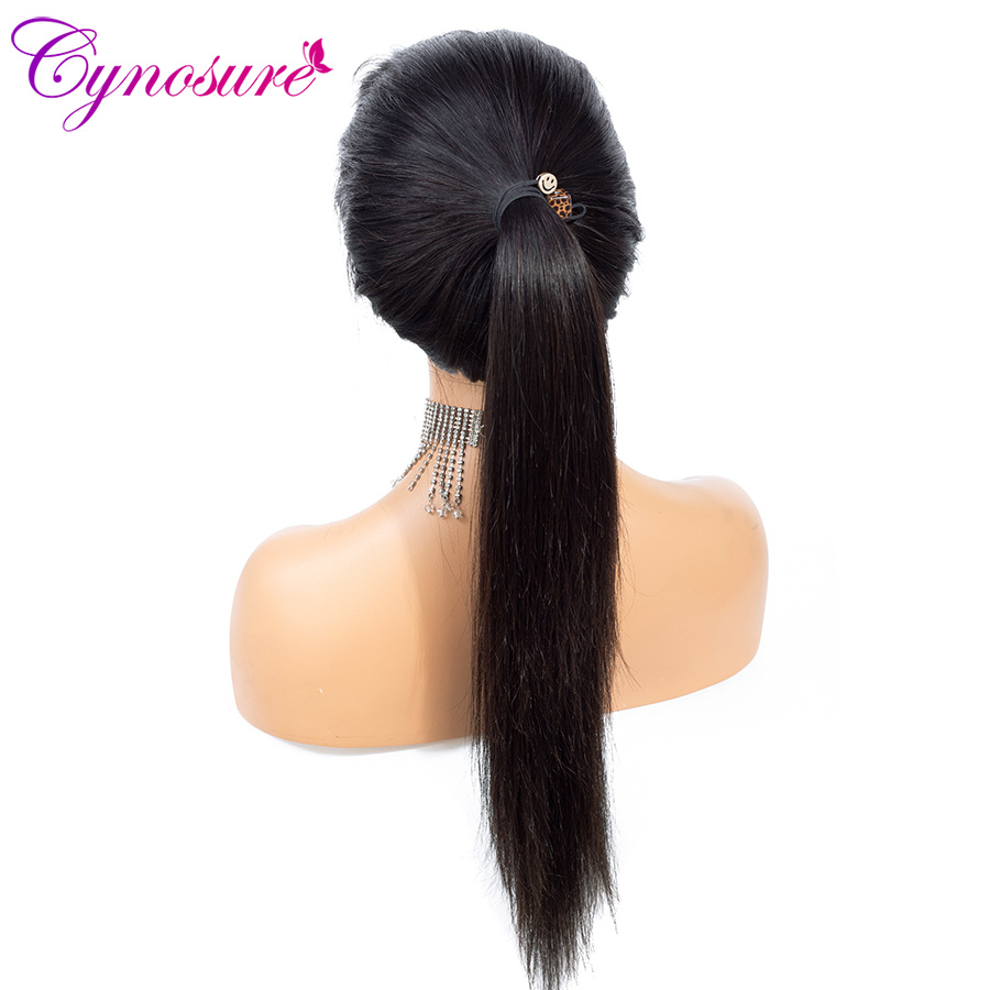H4b5166f839cb490cb43ce42ae5f2dc141 Cynosure 4x4 Straight Lace Closure Wig Brazilian Lace Closure Human Hair Wigs Pre-Plucked with Baby Hair Remy
