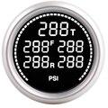 Manómetro de suspensión de aire PSI de 7 colores + 5 uds. 1/8NPT sensores eléctricos 2 pulgadas 52mm kit turbo boost manómetro