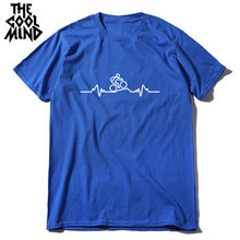 Мужская футболка coolmind 100% хлопок высокое качество Повседневная