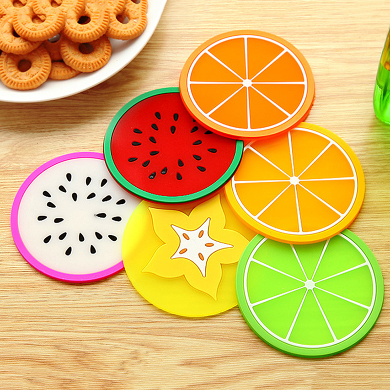 Fruit Coaster Placemat Coaster-Household-Tool Cup-Drinks-Holder Non-Slip Heat-Resistant title=