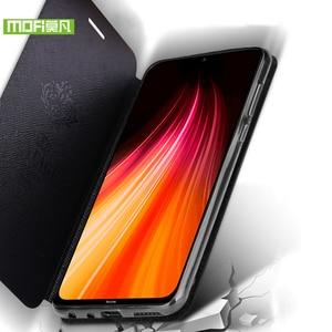 Image 5 - を Xiaomi Redmi 注 8 8T ケースシリコンカバーフリップ革 Mofi Xiaomi Redmi 注 8 8T プログローバルバージョン 360 耐衝撃