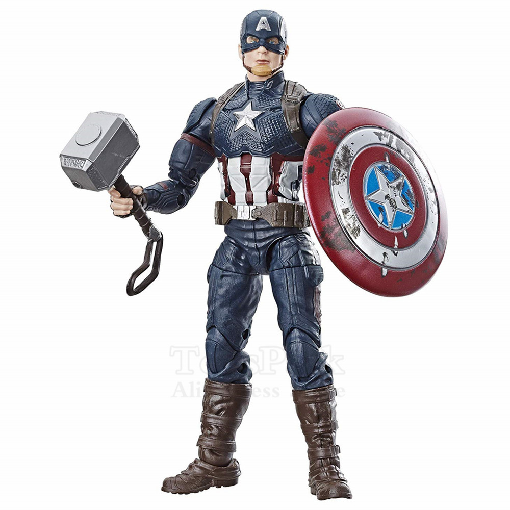 marvel-legends-font-b-avengers-b-font-4-endgame-captain-america-mjolnir-worthy-cap-6-action-figure-walmart-exclusive-steve-rogers-toys-doll