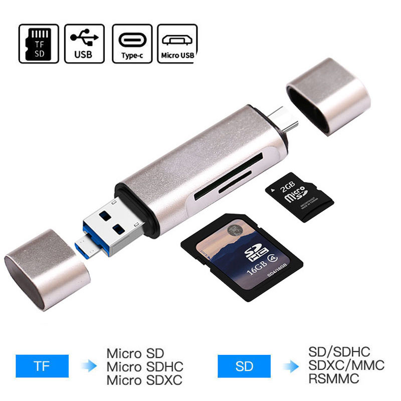 3PCS Portable mini Memory Card Reader Adapters To USB 2.0 for Micro SD SDHC TF
