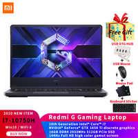 Xiaomi Redmi G Gaming laptop 16,1 ''Intel®Núcleo™I7-10750H 16GB DDR4 RAM 512GB SSD GTX️ 1650 Ti WIFI 6 Win10 game Notebook