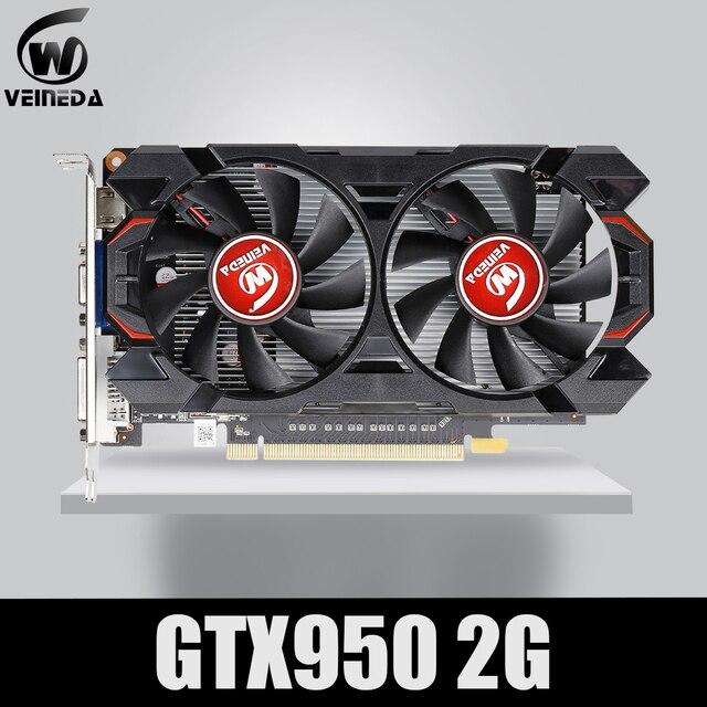 ビデオカードveineda GTX950 2 ギガバイト 128Bit GDDR5 グラフィックスカードnvidia geforeceゲーム