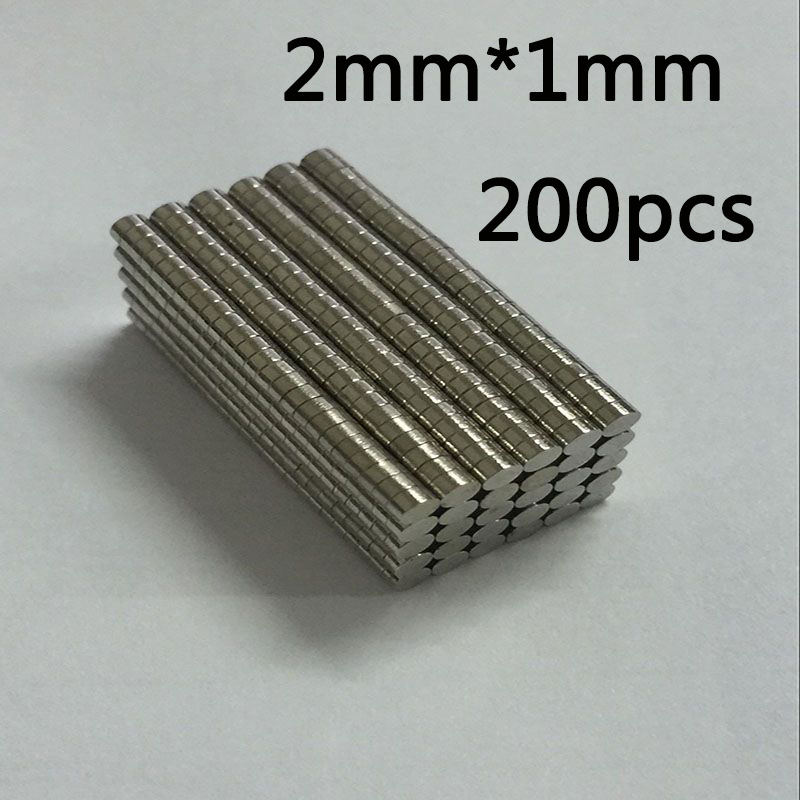 200 шт/400 шт супер сильные неодимовые магниты Редкоземельные постоянные магниты N35 дисковый на холодильник ремесло(это маленькие магниты - Цвет: 2mm x 1mm(200pcs)