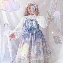 Kawaii Lolita Vintage encaje Vintage vestido Vintage Bowknot vestido victoriano chica Kawaii Gothic Lolita dulce vestido de princesa loli porque