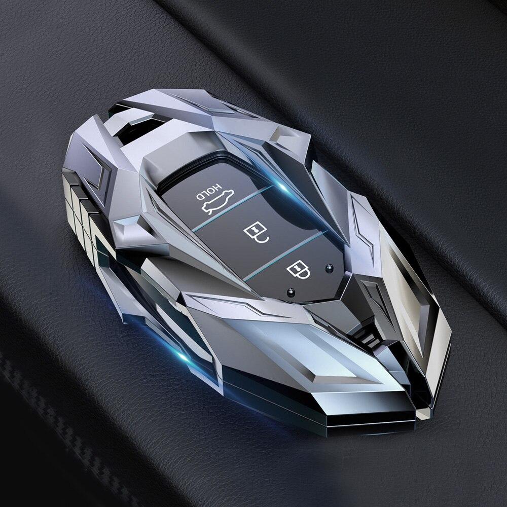 Funda de aleación de Zinc para llave de coche, cubierta de mando a distancia inteligente para Hyundai Elantra GT Kona 2018 2019 Santa Fe Veloster