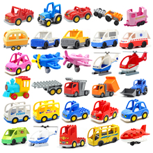 Car Aircraft Model Big Building Blocks Engineering Vehicle Accessories Bus Helicopter Compatible brick Traffic Set Children Toys