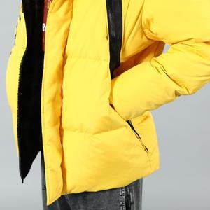 Image 3 - SIMWOOD 2019 Winter Fashion White Duck Down Coats Men Hip Hop Letter Jacket High Quality Parka Slim Fit Brand Clothing 180433