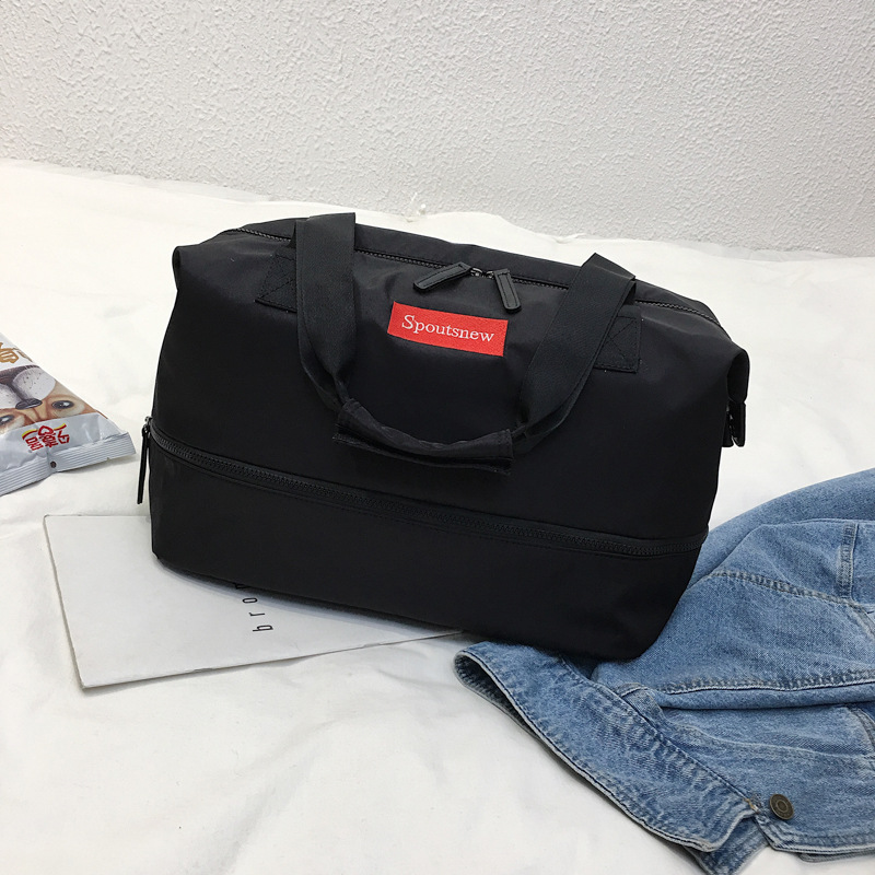 Hand-held Short-distance Travel Bag Is Portable, Simple, Dry-wet Separation And Can Be Set Pull Rod Travel Exercise And Fitness