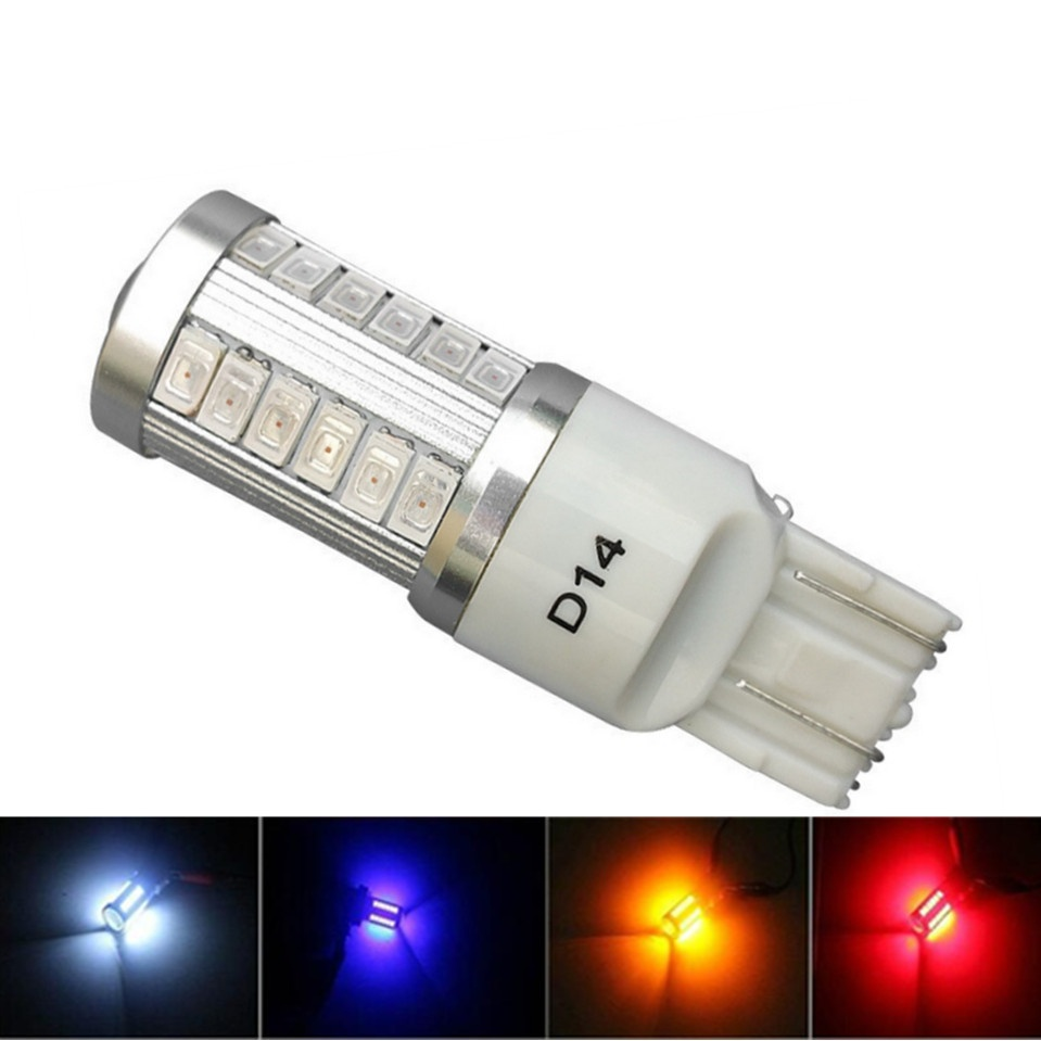 1PC T20 <font><b>Car</b></font> Bulb W21/5W 7443 T20 33 <font><b>LED</b></font> 5630 5730 SMD <font><b>Car</b></font> Rear Light Stop Bulbs Auto Brake Fog <font><b>Lamp</b></font> V-Best image