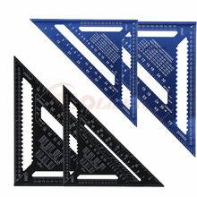 Ângulo régua 7/12 polegada métrica liga de alumínio triangular medição régua woodwork velocidade triângulo quadrado ângulo transferidor medição