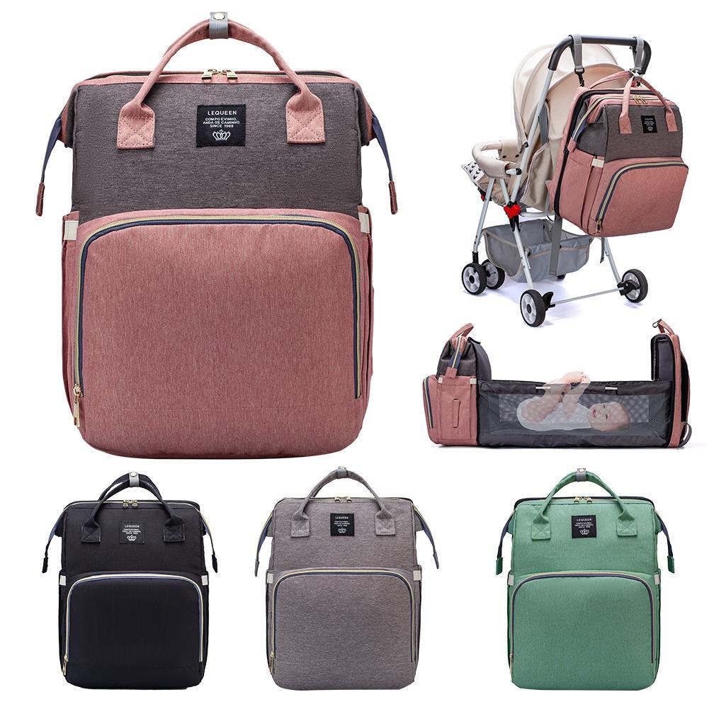 Bolsa multifuncional para mamá, bolsa de pañales portátil, mochila plegable de viaje para bebé, almohadillas para cambiador de pañales de cama para exteriores|Bolsas para pañales|   - AliExpress