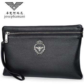 soft Envelope package new  portfel Large capacity Clutch men wallet high-end JOSEPHAMANI brand genuine leather wallet