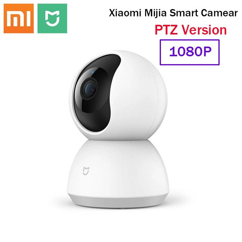 Xiaomi Mijia caméra Webcam intelligente Version PTZ 360 ° 1080P HD Vision nocturne sans fil Wifi IP Webcam maison intelligente caméra vue bébé moniteur