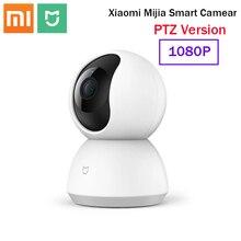 Xiaomi mijiaスマートウェブカメラカメラptzバージョン360 ° 1080のhdナイトビジョンワイヤレスwifi ipスマートホームカム表示ベビーモニター