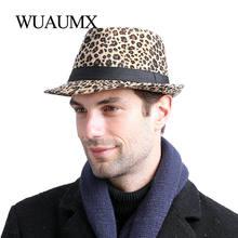 Шляпа федора wuaumx для мужчин и женщин шапка котелок с леопардовым