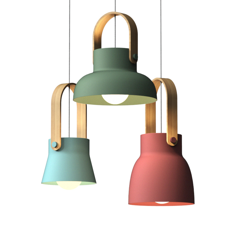 Simple Hanging Lamp Home Indoor Kitchen Art De Pendant Lamp Lighting Nordic Loft LED Iron Pendant Lights Restaurant Room Bedroom|Pendant Lights|   - title=