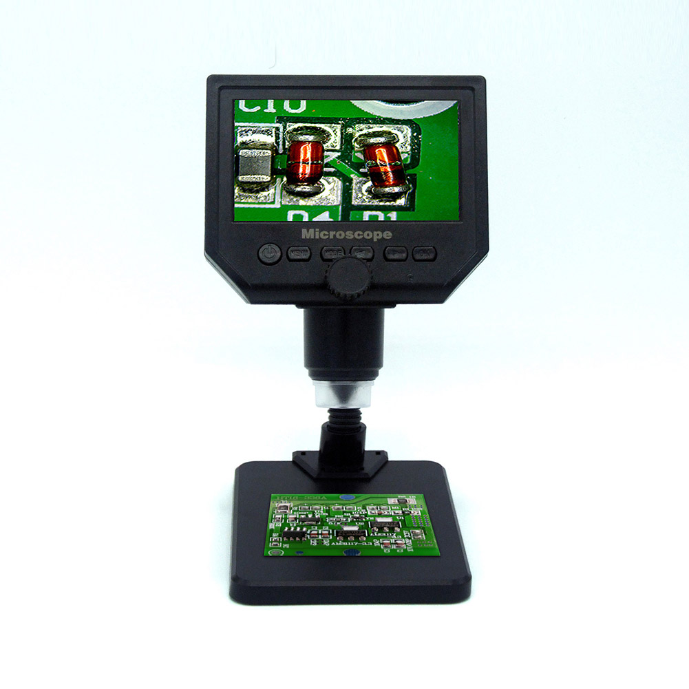 4.3 Inch HD LCD Soldering Microscope Phone Repair Magnifier + Stand 600X Digital Microscope Electronic Video Microscope