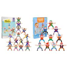 Hercules Acrobatic Troupe Villain Children Puzzle DIY Building Blocks Stacking Balance Parent-child Interactive Kids Toy
