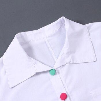 Plus Size Women White Shirt Tops Colorful Button Anomalistic Women's Blouse Long Sleeve Summer Tunic Fashion Woman Blouses 2019 4
