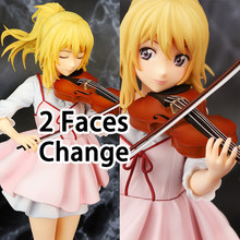 Your Lie in April Figuras Anime Kaori Miyazono con Volín Uniforme Figura de Acción Resina PVC Japonesa Hermosa Chica Anime Figuras Coleccionables