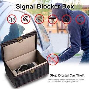 Image 5 - 지갑 PU 가죽 도난 방지 차폐 주머니 휴대 전화 신호 차단기 상자 실용적인 사각형 RFID 열쇠가없는 항목 자동차 키